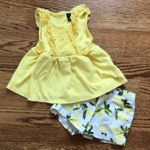Tommy Hilfiger 18 Months Yellow Lemon Outfit